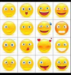 Set of emoji vector