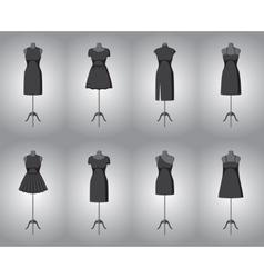 Set of woman little black dresses vector image