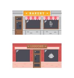 Shop front facade flat design vector