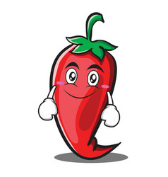 smile red chili character cartoon vector image vector image