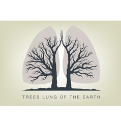 Trees - lungs of the planet ecology in nature vector image