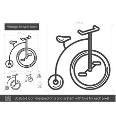 vintage bicycle line icon vector image