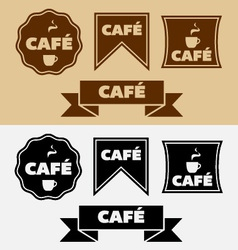 Vintage cafe badges and banners vector