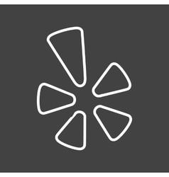 Yelp vector image