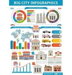 Bid city infographics vector