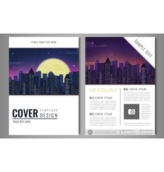 Leaflet brochure flyer template design with urban vector