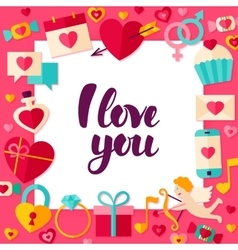 I Love You Paper Concept vector image