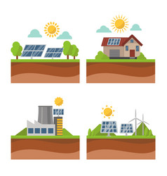Sun solar energy power electricity technology vector