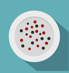 red and black peppercorns icon flat style vector image