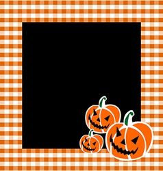 Halloween pumpkin faces background vector