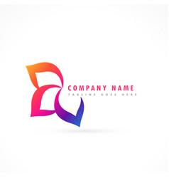 flower logo design template vector image