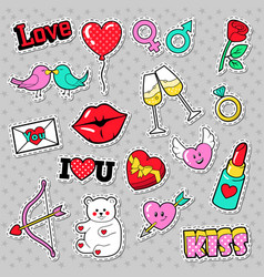 fashion love badges patches stickers vector image