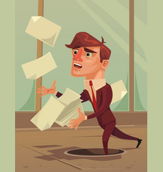 Careless inattentive businessman office worker vector