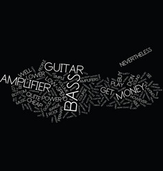 Bass amplifiers text background word cloud concept vector