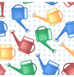 Watering can pattern vector