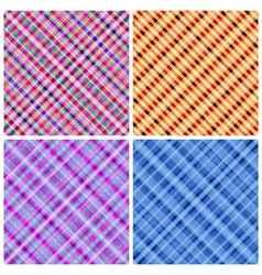 Set of 4 seamless pinstripe pattern vector