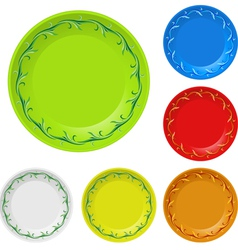 Disposable plates vector