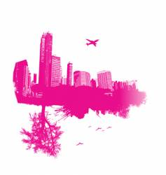 nature and city vector image