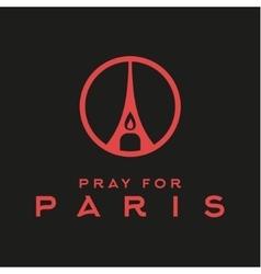 Pray for the paris france friday 13th november vector
