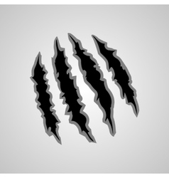 Monster claw marks vector