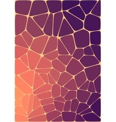 Abstract composition with ceramic geometric shapes vector