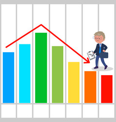 bad business chart vector image vector image