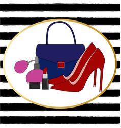 big fashion sketch set vector image vector image