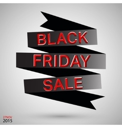 Black friday ribbon vector