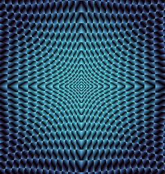 Blue neon Fraktal vector image