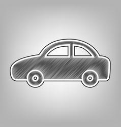 Car sign pencil sketch vector