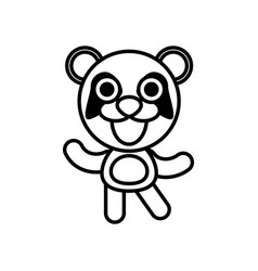 cartoon panda animal outline vector image vector image