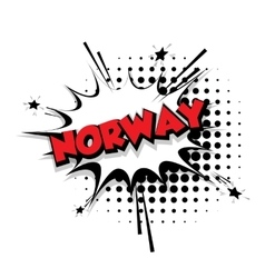 Comic text Norway sound effects pop art vector image vector image