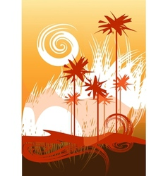 Desert theme vector