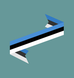 estonia flag ribbon isolated estonian tape banner vector image