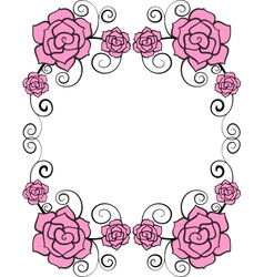 Frame with rose vector