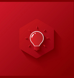 Icon creative on hexagon red icon and background vector