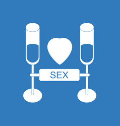Icon on background sex and cocktails vector