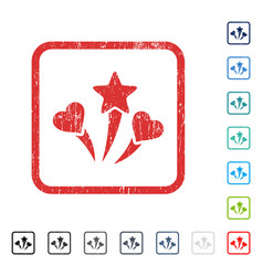 Lovely fireworks icon rubber watermark vector