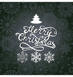 Merry Christmas lettering Greeting card with vector image