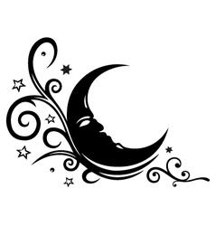 Moon stars sleep dream vector