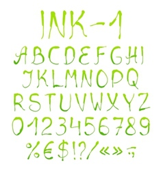 Painted alphabet with numbers vector image vector image