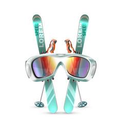 ski club icon set vector image