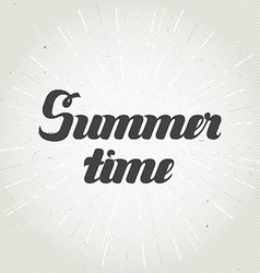 Summer time hand lettering Handmade calligraphy vector image vector image