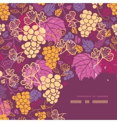 Sweet grape vines corner frame pattern background vector