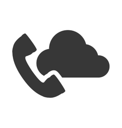 telephone handset icon vector image vector image
