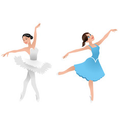 two young ballerinas vector image