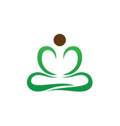 Yoga meditation logo image vector