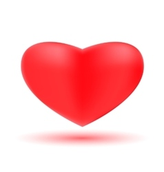 Symbol of love - Red 3D Valentine hearts vector image