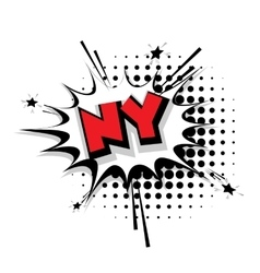 Comic text ny sound effects pop art vector
