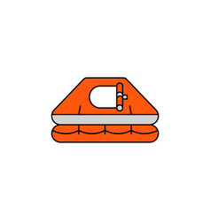 Flat icon life raft vector